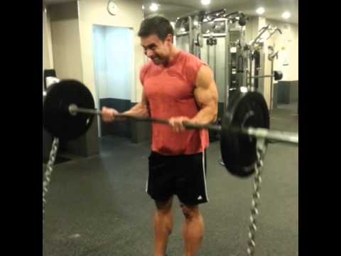 Barbell Curls with Chains