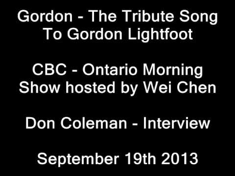 Don Coleman Interview - CBC Ontario Morning with Host Wei Chen