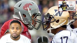 WASHINGTON VS WASHINGTON ST BATTLE IN THE APPLE CUP!!! (HAPPY THANKSGIVING) NCAA FOOTBALL 14