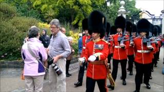 Queen's Guard don't stop for anything – even this 'stupid man'