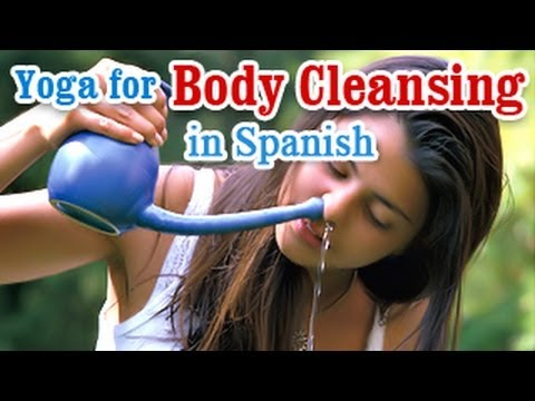 Yoga for Body Cleansing - Body Detoxification, Improve Digestion and Diet Tips in Spanish