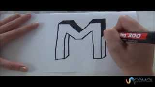 Cómo Hacer La Letra M En 3D How To Make The Letter M In