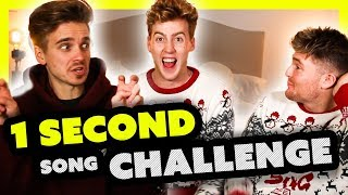 1 SECOND CHRISTMAS SONG CHALLENGE ft Joe Sugg and Mikey