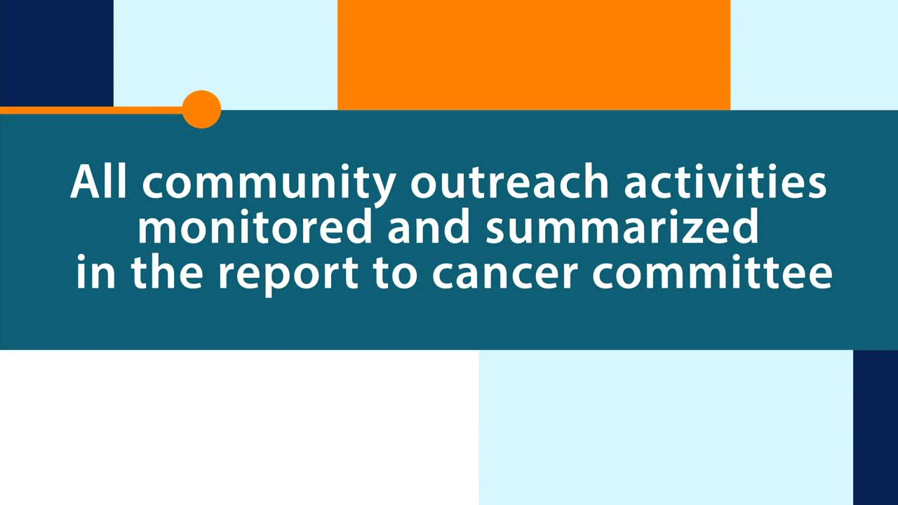 community outreach summary