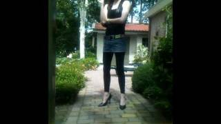 Smoking In Mini Skirt And 5 Inch Stilettos