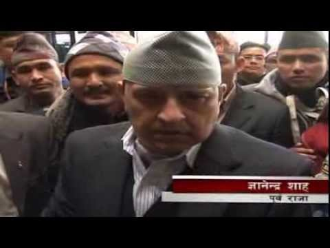 Former King Gyanendra shah visit to India