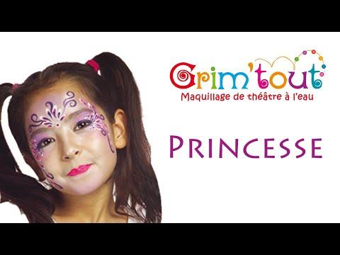 Mod le maquillage enfant princesse youtube - Modele maquillage princesse ...