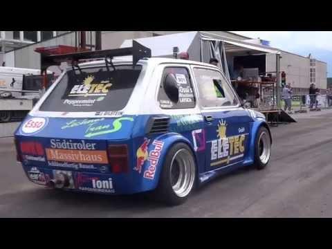 Fiat 126 Hayabusa 4x4 vs. Fiat 500 Kawasaki / Autoslalom Laas '14