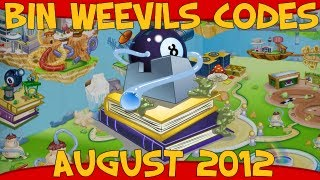 Bin Weevils Codes For Mulch, XP, Nest Items, Dosh And Seeds August 2012