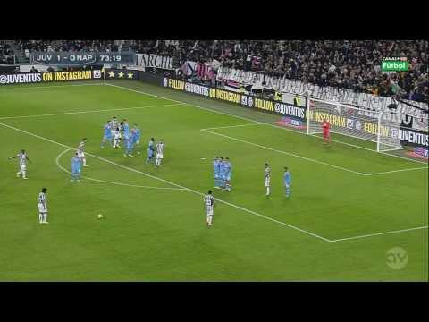 Punizione Pirlo Juve-Napoli telecronaca spagnola