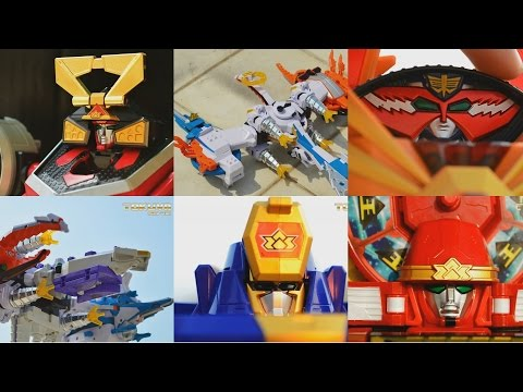 All DX Gattai Samurai Sentai Shinkenger 2009! DX 侍戦隊シンケンジャー! Power Rangers Samurai Megazord!
