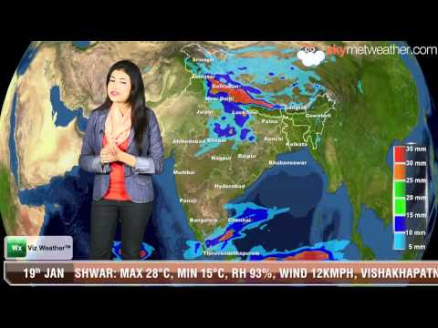 19/01/14 - Skymet Weather Report for India