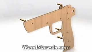 Elastic Band Gun: 3D Assembly Animation (720HD)