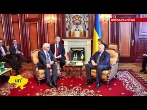 Steinmeier in Kyiv: German FM meets acting Ukrainian president Oleksandr Turchynov