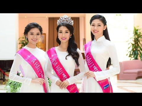 Đêm Chung kết Hoa Hậu Việt Nam 2016, HH Đỗ Mỹ Linh, Á hậu 1 Ngô Thanh Thanh Tú, Huỳnh Thị Thùy Dung