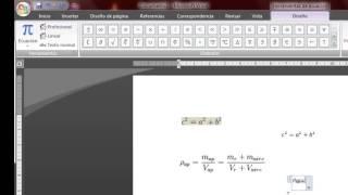 ¿Cómo Insertar Ecuaciones Y Fórmulas Matemáticas En Word?