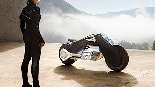 BMW Self Balancing Motorbike Demonstration LIVE Driving BMW Vision 100 BMW Autonomous Bike CARJAM