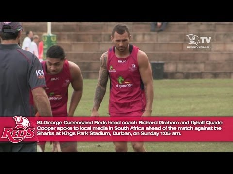 Quade Cooper & Richard Graham press conference in Durban | Super Rugby - Quade Cooper & Richard Grah