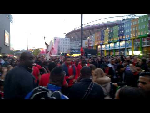 Ajax kampioen 2014, Arena, brass / drum band #Ritmo percussion, Amsterdam Zuid-oost