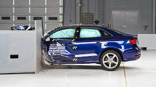 2015 Audi A3 Small Overlap IIHS Crash Test