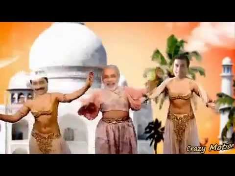 Modi vs Kejriwal vs Rahul dance comepetion funny video