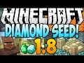 Minecraft 1.8 Seeds - DIAMOND SEED! 16 Diamonds, Temple & Village At Spawn! (Minecraft 1.8) - 2014