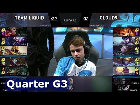 Team Liquid vs Cloud 9 | Game 3 Quarter Finals S8 NA LCS Spring 2018 | TL vs C9 G3