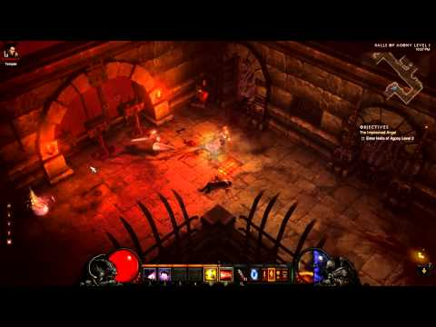 [Diablo 3 Walkthrough] Demon Hunter - Act 1 - Part 20 - Halls of Agony Level 1