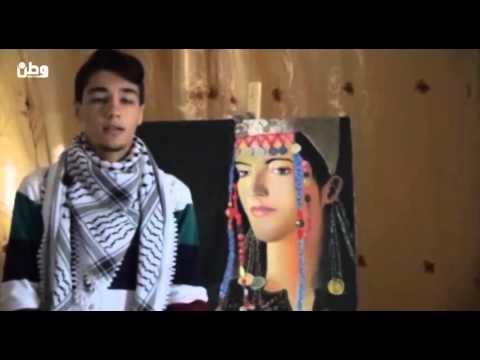 غزة: أبو ندى.. فنان تشكيلي يبث رسالة سلام لمحبيه عبر لوحاته