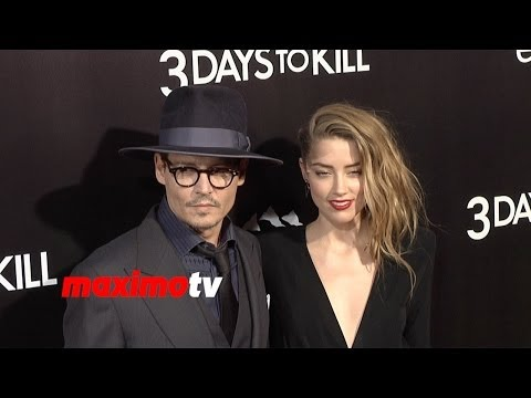 "Johnny Depp and Amber Heard ""3 Days to Kill"" Los Angeles Premiere Arrivals"