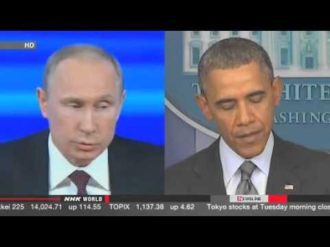 Obama, Putin differ on Ukraine crisis