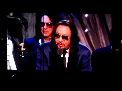 KISS Acceptance Speech Rock Hall 2014 - Gene Simmons Paul Stanley Peter Criss Ace Frehley