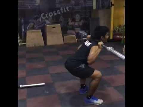 Kangaroo squats  weightlifting  CROSSFIT