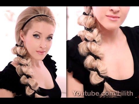 Big ribbon braid hairstyle tutorial - Nagy szalag fonat frizura