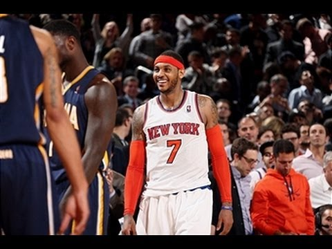 Carmelo Anthony Leads Surging Knicks Over Pacers with 34