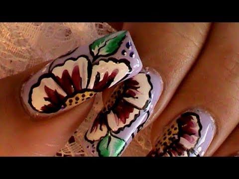 One Stroke Nail Art Techniqueeen Nail Design Nail Degins 3d Video