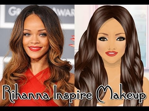 Stardoll Make-up: Rihanna Inspire makeup