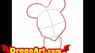 how to draw baby minnie mouse step by step