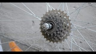 Ajustar el piñón de una bicicleta