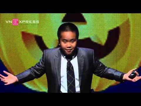 Thần động Đỗ Nhật Nam nói tiếng anh như gió tại hội nghị Khoa học Giáo dục TEDxKID - Mỹ
