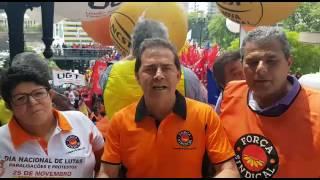 Paulinho da Força participa de manifestação em São Paulo