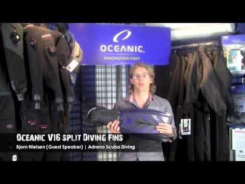 Oceanic V16 Split Diving Fins