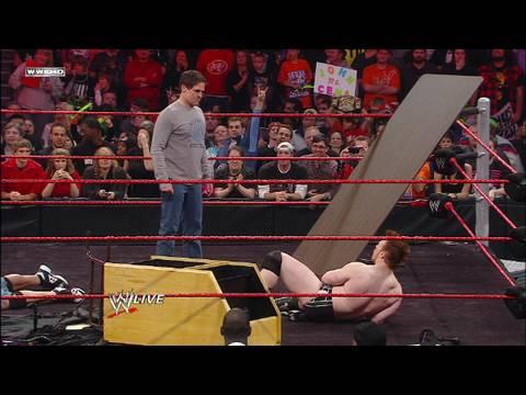 Raw guest host Mark Cuban moderates a showdown between WWE