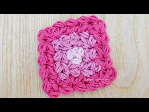 How to Crochet my Puff Granny Square (Difficult)