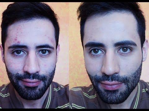 maquillaje para hombre y como tapar marcas de acné