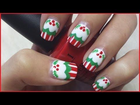 Christmas Cupcake Nails - Karácsonyi sütis körmök
