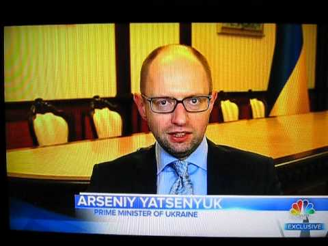 Ukraine Prime Minister Arseniy Yatsenyuk on Meet the Press