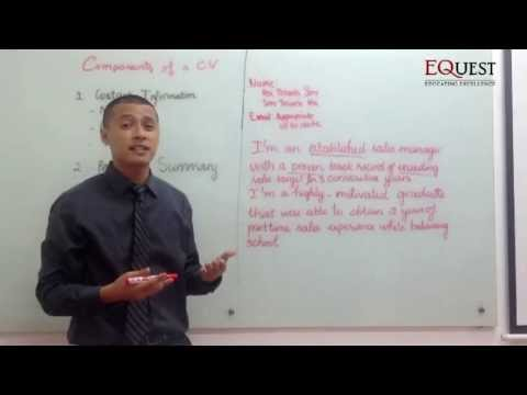 Phương pháp viết CV bằng tiếng Anh
