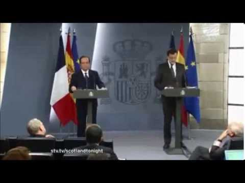 The Spanish PM and a Catalan Journalist discuss Scotland and the EU