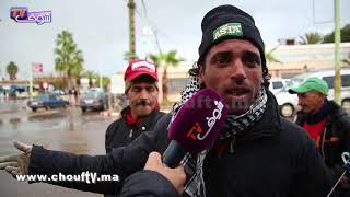 بالفيديو..من أزمور..قادوس تفركع و ساكنة المنطقة تشتكي..شوية ديال الشتاء فاض علينا الواد الحار |